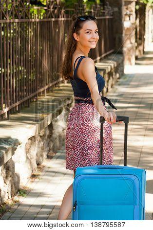 Beautiful Young Traveler.