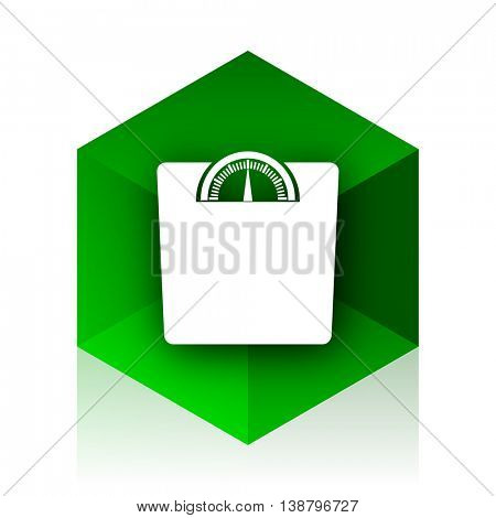 weight cube icon, green modern design web element