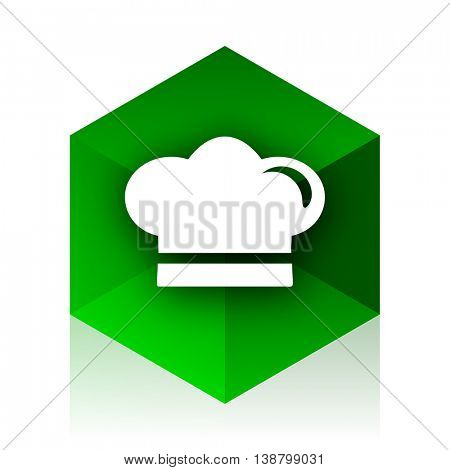 cook cube icon, green modern design web element