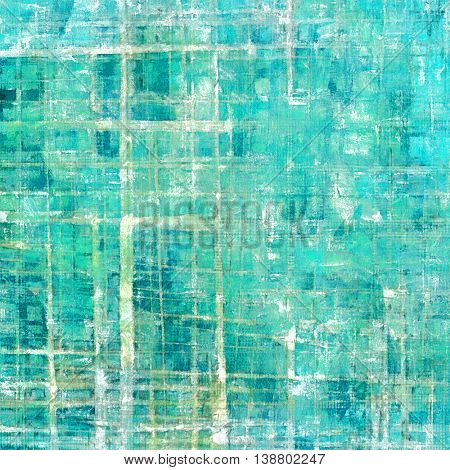 Vintage background in scrap-booking style, faded grunge texture with different color patterns: gray; green; blue; white; cyan