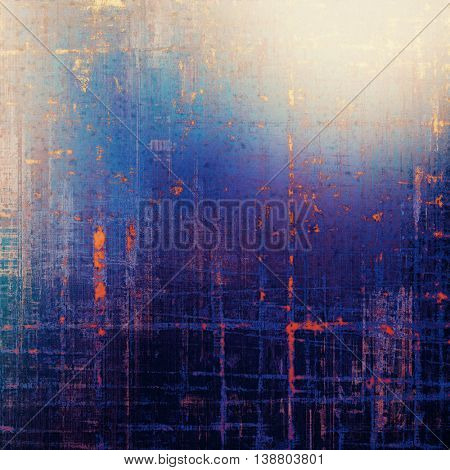 Retro grunge vintage background or weathered antique texture with different color patterns: yellow (beige); brown; black; blue; purple (violet); pink