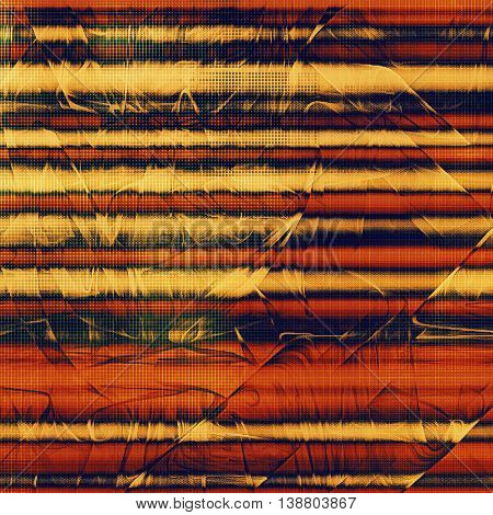 Vintage background with dirty grungy texture or overlay and different color patterns: yellow (beige); brown; black; blue; red (orange)