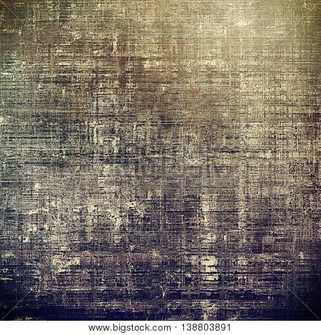 Damaged retro texture with grunge style elements and different color patterns: yellow (beige); brown; gray; blue; purple (violet)