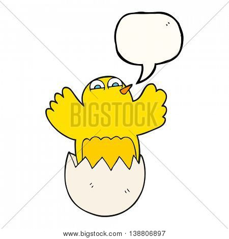 freehand drawn speech bubble cartoon hatching egg