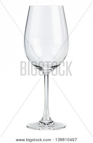 Empty wine glass isolated on white. 3d render