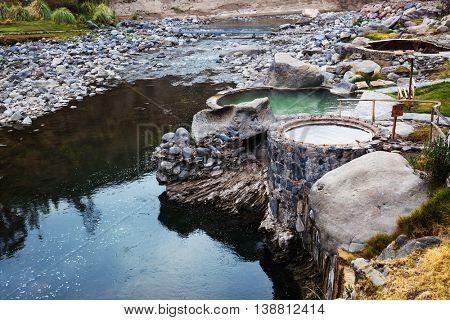 a hot springs and the mountain river