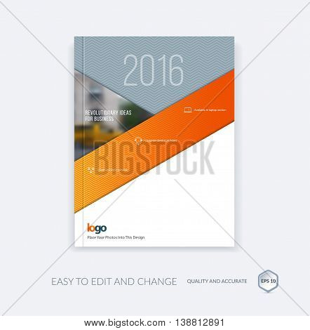 Abstract brochure template, cover design annual report, magazine, flyer, leaflet in A4 with triangles for business, technology in material design style with overlay effect. Vector.