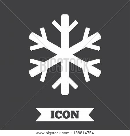 Air conditioning sign icon. Snowflake symbol. Graphic design element. Flat air conditioning symbol on dark background. Vector