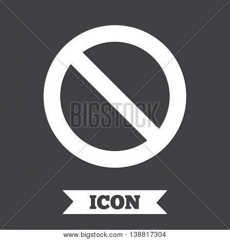 Blacklist sign icon. User not allowed symbol. Graphic design element. Flat blacklist symbol on dark background. Vector