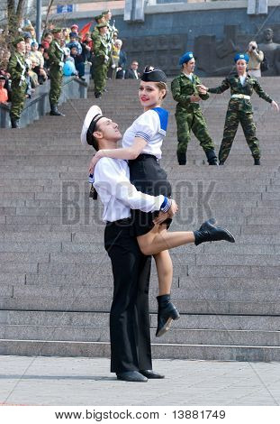 Dancers On Victory Day