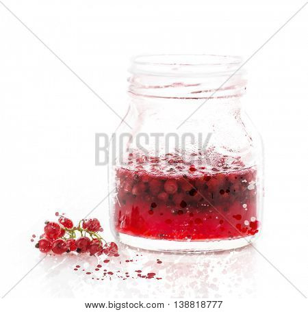 Digital painting of jam in a glass jar