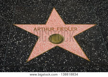 Arthur Fiedler Star On The Hollwyood Walk Of Fame