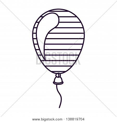 patriotic balloon air isolated icon design, vector illustration  graphic