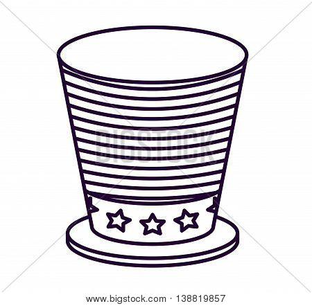 patriotic hat  isolated icon design, vector illustration  graphic