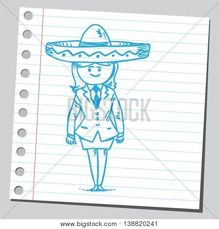Businesswoman with sombrero