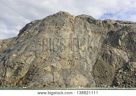 Bare Rock after a Glacier Recedes near the Columbia Glacier in Alaska