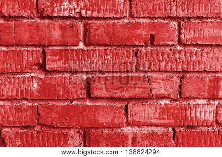 Brickwork, brick, pattern of old brick surfaced, rough brick wall, brickwall, brick house, red