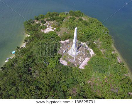 Aerial photo of Monument Island Miami Beach