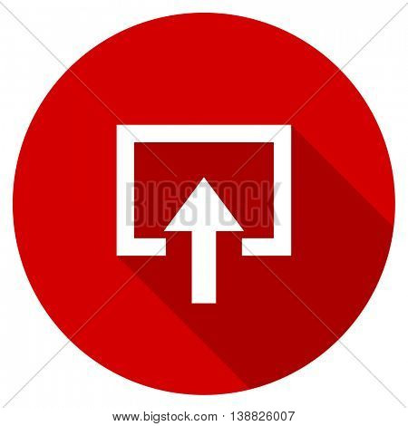 enter vector icon, red modern flat design web element