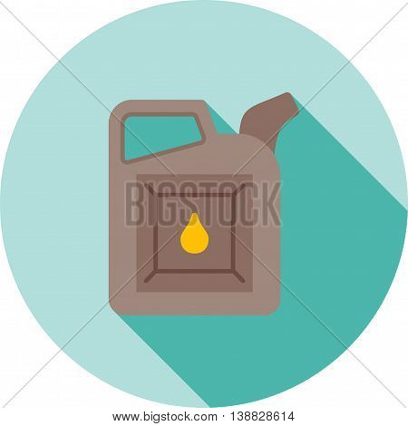 Oil, can, motor icon vector image. Can also be used for car servicing. Suitable for use on web apps, mobile apps and print media.