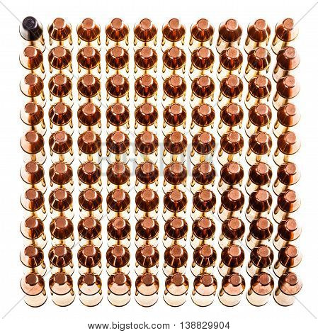 Square Of Pistol Bullets