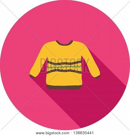 Sweater, warm, cozy icon vector image. Can also be used for seasons. Suitable for use on web apps, mobile apps and print media.