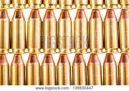 Arranged Handgun Ammo