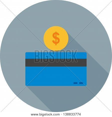 Card, paying, payment, credit icon vector image.Can also be used for digital web. Suitable for web apps, mobile apps and print media.