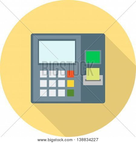 Atm, receipt, card icon vector image. Can also be used for digital web. Suitable for use on web apps, mobile apps and print media.