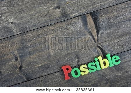 Possible word on wooden table
