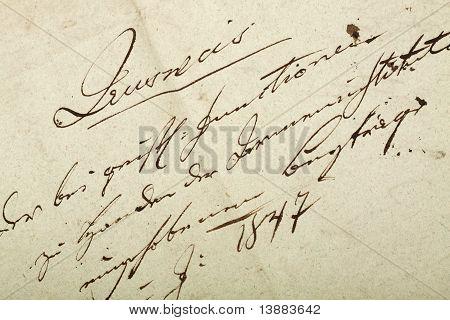 Old handwriting