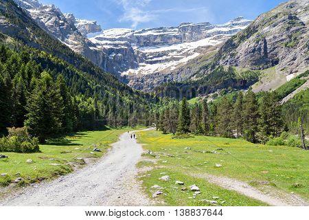 Road to Cirque de Gavarnie Hautes-Pyrenees France
