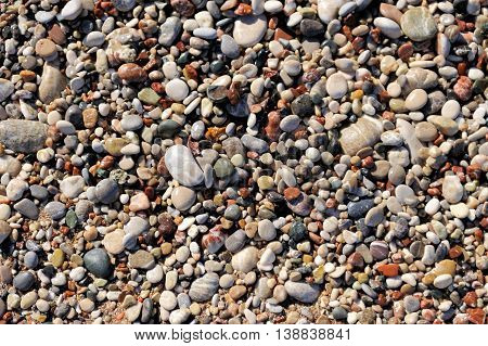 Pebbles As A Background Image