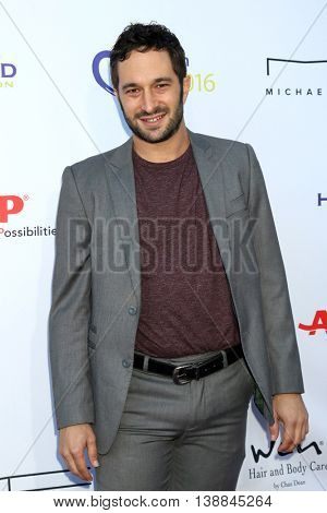 LOS ANGELES - JUL 16:  Aaron Wolf at the HollyRod Presents 18th Annual DesignCare at the Sugar Ray Leonard's Estate on July 16, 2016 in Pacific Palisades, CA