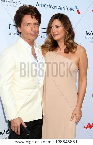 LOS ANGELES - JUL 16:  Richard Marx, Daisy Fuentes at the HollyRod Presents 18th Annual DesignCare at the Sugar Ray Leonard's Estate on July 16, 2016 in Pacific Palisades, CA