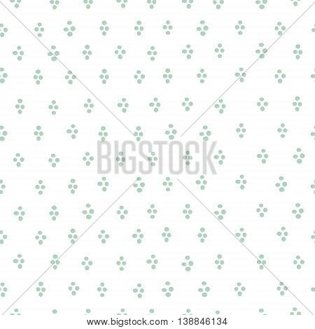 Simple round mint blob confetti seamless vector print. Speckled graphic backdrop.