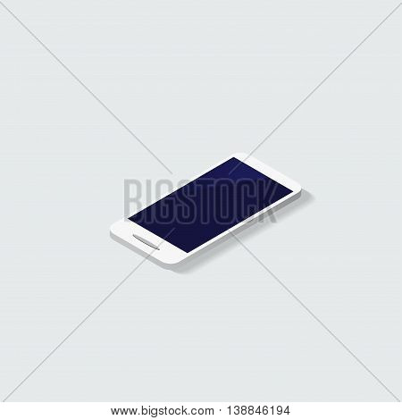 White smartphone vector mockup. Can use for printing, website, presentation element. for app demo on phone