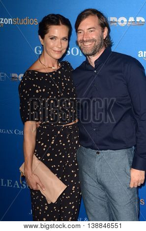 LOS ANGELES - JUL 14:  Katie Aselton, Mark Duplass at the Gleason LA Premiere Screening at the Regal 14 Theaters at LA Live on July 14, 2016 in Los Angeles, CA