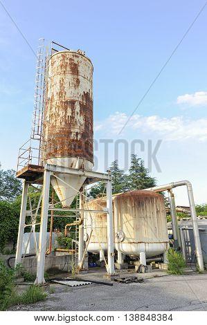 Old Industrial Silos