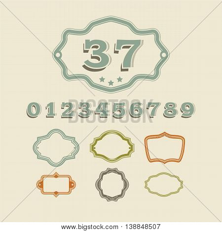 Classic address number sign for house and apartments, vector illustration