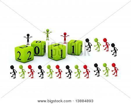 Menschen im Jahr 2011