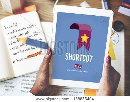 Shortcut Internet Guide Direction Process Concept