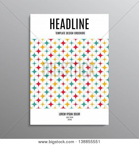 business brochure template or layout design flyer in A4 size with abstract stars on background. stock vector illustration eps10