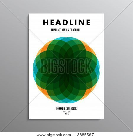 business brochure template or layout design flyer in A4 size with logo on background. stock vector illustration eps10