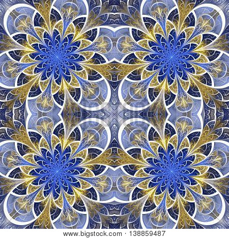 Beautiful seamless flower pattern in stained-glass window style. You can use it for invitations notebook covers phone cases postcards cards wallpapers and so on. Artwork for creative design.