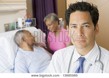 Doctor Standing In Hospital Room