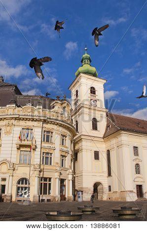 Catholic Church In Sibiu Romania