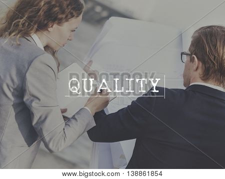 Business Control Quality High Low Concept