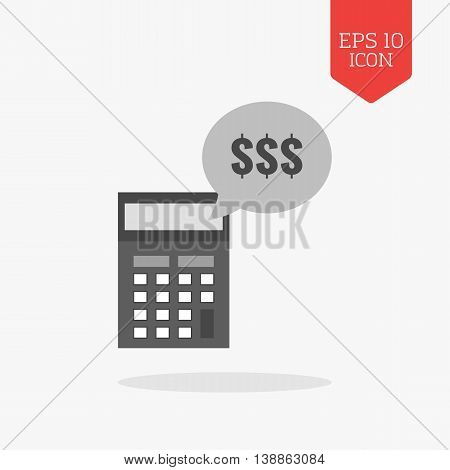 Income Calculation Concept Icon. Flat Design Gray Color Symbol. Modern Ui Web Navigation, Sign.