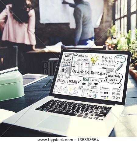 Design Graphic Creative Ideas Objective Planning Concept